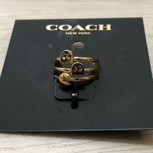 COACH PAC-MAN Ring Stack Set NWTs Ring Size 5